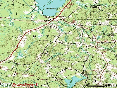 Thorndike topographic map
