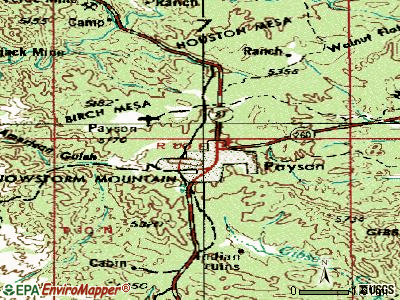 Payson topographic map