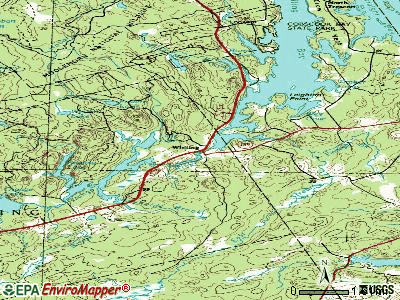 Whiting topographic map