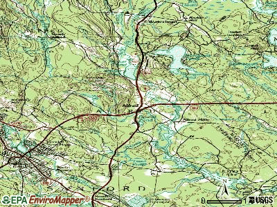 Alfred topographic map