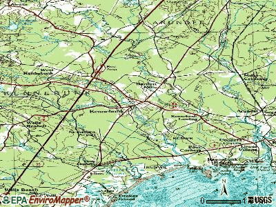 Kennebunk topographic map