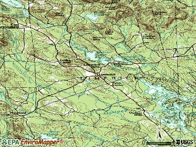 Limerick topographic map