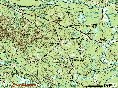Limington topographic map