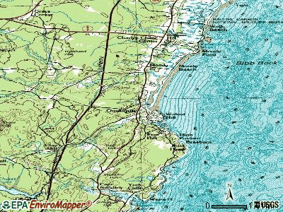 Ogunquit topographic map