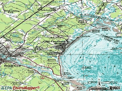 Old Orchard Beach topographic map