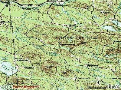 Parsonsfield topographic map
