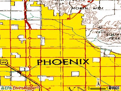 Phoenix topographic map