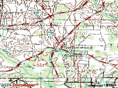 Cottonwood topographic map