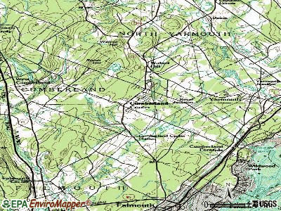 Cumberland Center topographic map