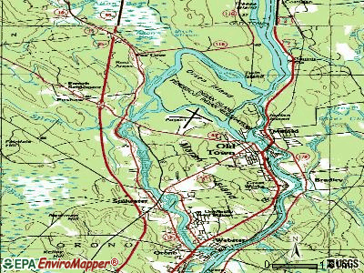 Old Town topographic map