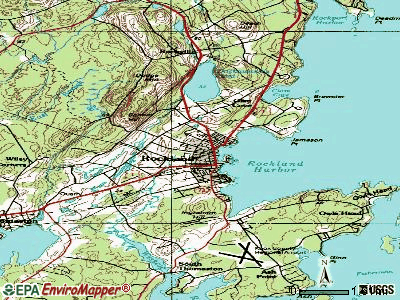 Rockland topographic map