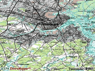 South Portland topographic map