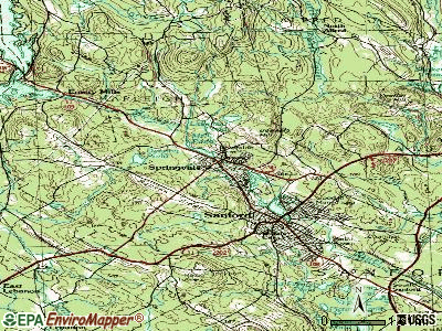 Springvale topographic map