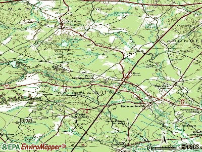West Kennebunk topographic map