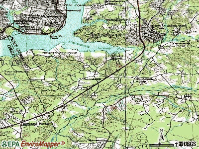 Accokeek topographic map
