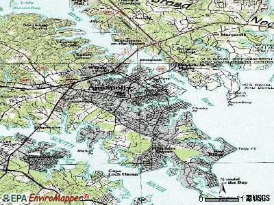 Annapolis topographic map