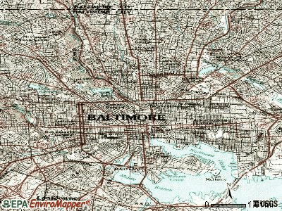 Baltimore topographic map