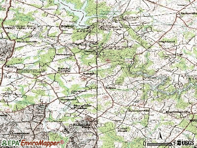 Barnesville topographic map