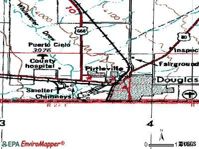 Pirtleville topographic map