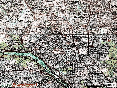Bethesda topographic map