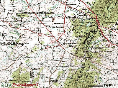 Boonsboro topographic map