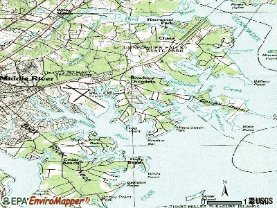 Bowleys Quarters topographic map