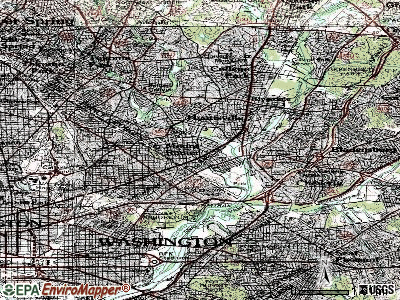 Brentwood topographic map
