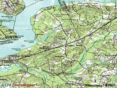 Bryans Road topographic map