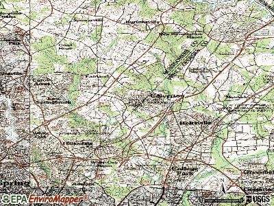 Calverton topographic map