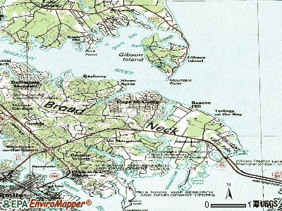 Cape St. Claire topographic map