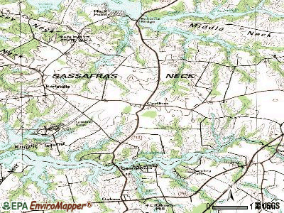 Cecilton topographic map