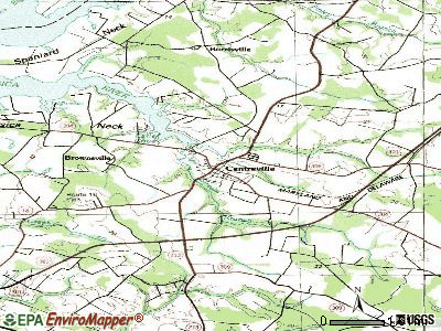 Centreville topographic map