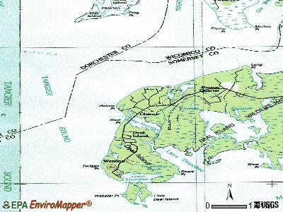 Chance topographic map