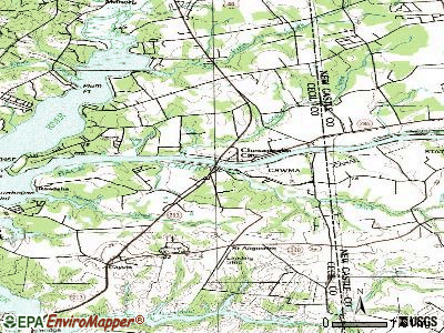 Chesapeake City topographic map