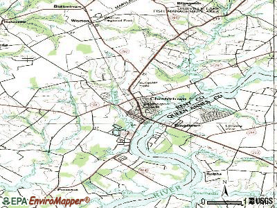 Chestertown topographic map