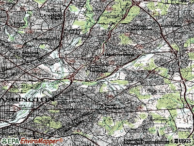 Cheverly topographic map