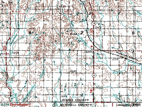 Zip code 66949 topographic map