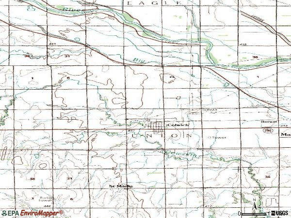 Zip code 67030 topographic map