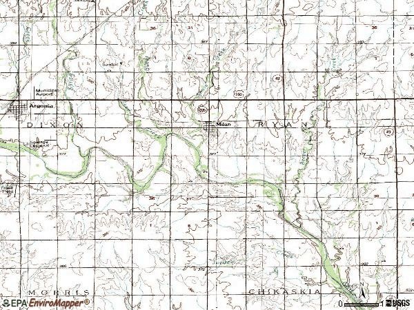 Zip code 67105 topographic map