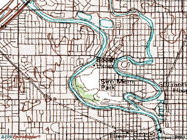 Zip code 67203 topographic map