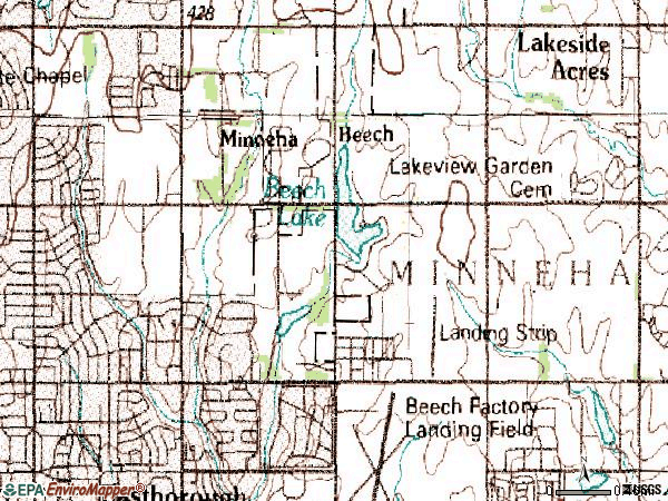 Zip code 67206 topographic map