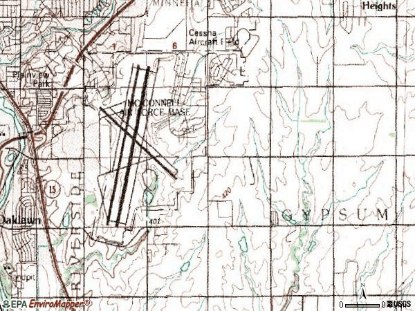 Zip code 67210 topographic map