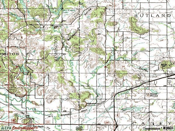 Zip code 67347 topographic map