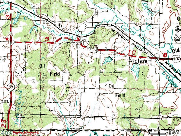 Zip code 67360 topographic map