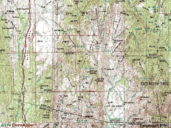 Zip code 85324 topographic map