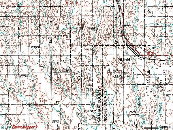 Zip code 67657 topographic map