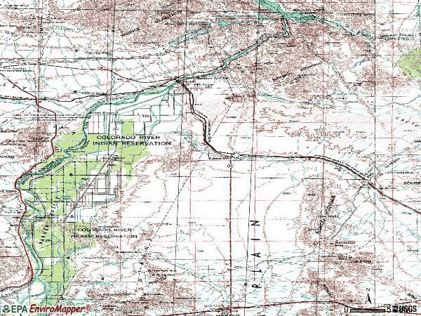 Zip code 85344 topographic map