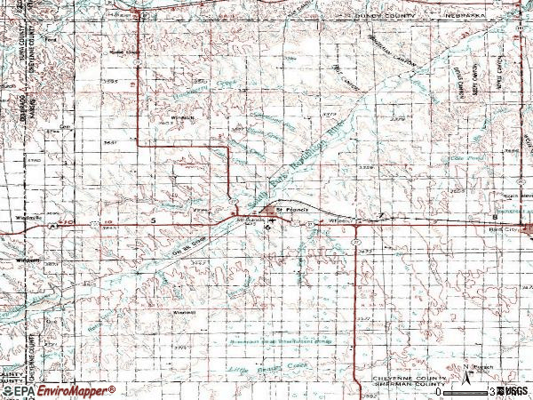 Zip code 67756 topographic map
