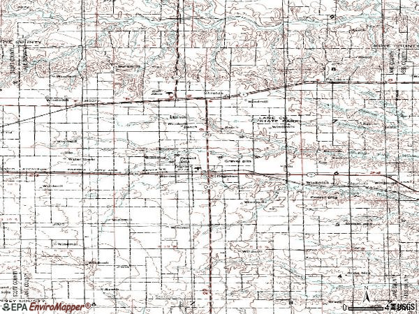 Zip code 67839 topographic map
