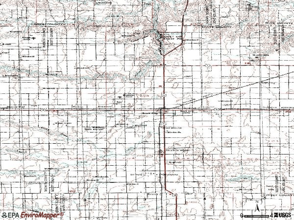 Zip code 67871 topographic map